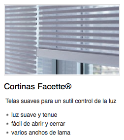 Cortinas Facette