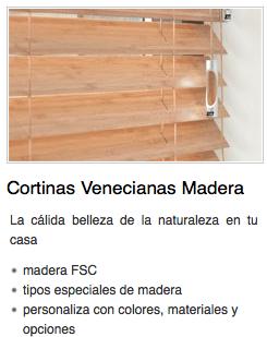 Venecianas de madera tienda de cortinas y estores en - Venecianas de madera ...