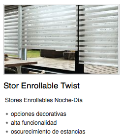 Estor enrrollable Twist